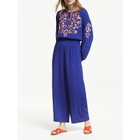 Boden Natalie Embroidered Jumpsuit, Lapis