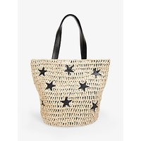 shop for hush Cannes Straw Star Detail Tote Bag at Shopo