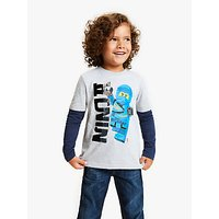 LEGO Boys Ninjago Sequin T-Shirt, Grey