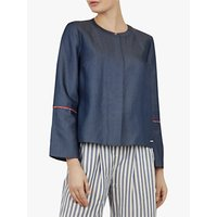 Ted Baker Colour By Numbers Bazia Cotton Shirt, Mid Wash Blue