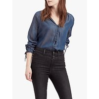 Levi's April Chambray Top, Medium Authentic Blue