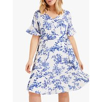 shop for Studio 8 Ines Printed Dress, Blue/White at Shopo