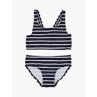 Polarn O. Pyret Children's Stripe Bikini Set, Blue/White