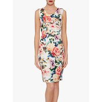 Gina Bacconi Vitina Floral Dress, Poppy Red