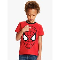 Spider-Man Boys Embroidered T-Shirt, Red