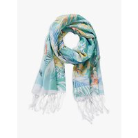 Betty & Co. Floral Print Scarf, Emerald Green/green