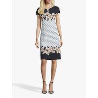 shop for Betty & Co Polka Dot Jersey Dress, Black/White at Shopo