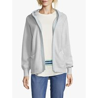 Betty and Co. Hooded Open Cardigan, Light Grey Melange