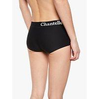 Chantelle Soft Stretch Logo Boy Short Briefs, Black