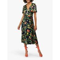 Monsoon Opal Print Tea Dress, Navy/Multi