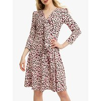 shop for Jolie Moi Tie Front Animal Print Dress, Pink/Multi at Shopo