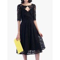 shop for Jolie Moi Fit And Flare Lace Midi Dress at Shopo