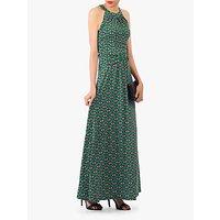 shop for Jolie Moi Geometric Print Halter Neck Maxi Dress, Green/Multi at Shopo