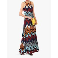 shop for Jolie Moi Wave Print Halterneck Maxi Dress at Shopo