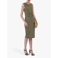 shop for Jolie Moi Roll Collar Sleeveless Shift Dress, Yellow/Multi at Shopo
