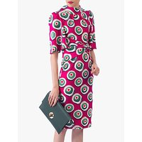 shop for Jolie Moi Abstract Print High Neck Midi Dress, Pink Multi at Shopo
