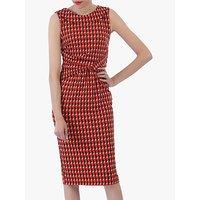 shop for Jolie Moi Roll Collar Sleeveless Shift Dress, Red/Multi at Shopo
