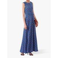 shop for Jolie Moi Print Roll Collar Dress, Blue/Multi at Shopo