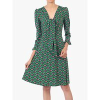 shop for Jolie Moi Tie Front Dress, Green at Shopo