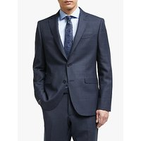 John Lewis and Partners Italian Zegna Wool Check Tailored Suit Jacket, Navy