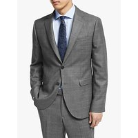 John Lewis and Partners Italian Zegna Wool Check Tailored Suit Jacket, Grey
