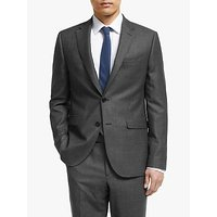 John Lewis and Partners Zegna Semi Plain Wool Tailored Suit Jacket, Charcoal