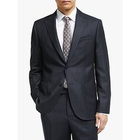 John Lewis and Partners Zegna Wool Wide Stripe Tailored Suit Jacket, Navy