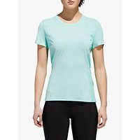 Adidas Franchise Supernova Short Sleeve Running T-shirt, Clear Mint