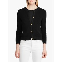 Lauren Ralph Lauren Annalie Cotton Cardigan, Black