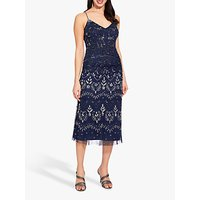 Adrianna Papell Embellished Cocktail Dress, Navy