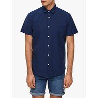 SELECTED HOMME Organic Cotton Linen Short Sleeve Shirt