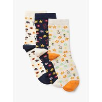 John Lewis & Partners Ditsy Floral Ankle Socks, Pack of 3, Multi
