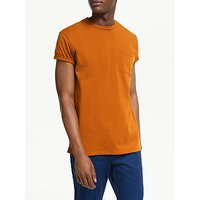 Scotch and Soda Classic Cotton Crew Neck T-Shirt, Burned Orange