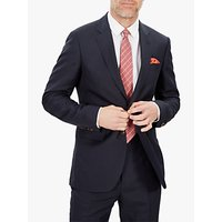 Jaeger Silk Linen Regular Fit Suit Jacket, Navy