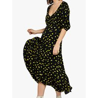 Ghost Alice Midi Dress, Lemon Pairs