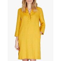 Jaeger Linen Tunic Dress, Gold