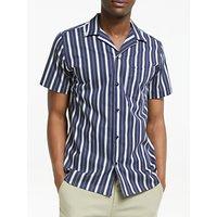 Les Deux Striped Manny Shirt, Dark Navy