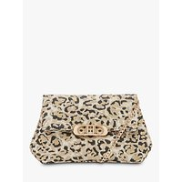 Dune Baileee Leopard Fold Over Cross Body Bag, Multi