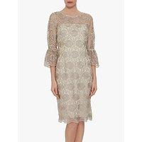 shop for Gina Bacconi Theora Floral Dress, Butter Cream at Shopo