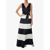 shop for Gina Bacconi Fianna Satin Dress, Navy/White at Shopo