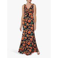 shop for Gina Bacconi Mildred Floral Print Dress, Navy/Orange at Shopo