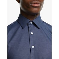 Smyth and Gibson Cotton Denim Slim Fit Shirt, Blue