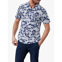 Joules Revere Floral Print Shirt, Navy