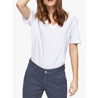 Selected Femme V-Neck T-Shirt, Bright White