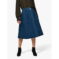 Selected Femme Hanna Denim Skirt, Medium Blue