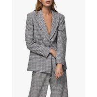 Selected Femme Stella Check Blazer, Black/Multi