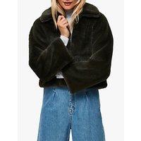 Selected Femme Faux Fur Jacket, Rosin