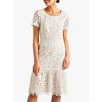 shop for Yumi Guipure Lace Bell Hem Dress, Ivory at Shopo