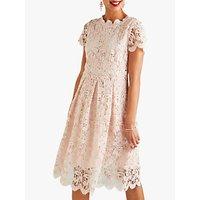 Yumi Lace Midi Prom Dress, Light Pink