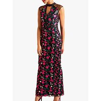 shop for Yumi Embroidered Floral Maxi Dress, Multi at Shopo